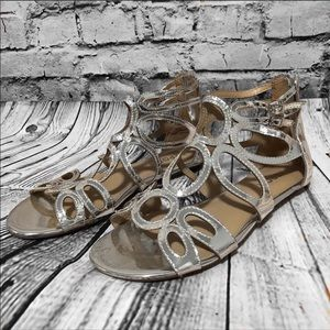 Report Lacole Flat Gladiator Sandal EUC